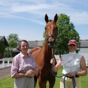 With breeder Mary Lett at Tattersalls 2008: Photo SG
