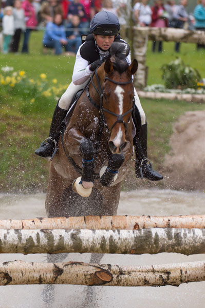 Jeanette Brakewell of Great Britain riding Lets Dance
