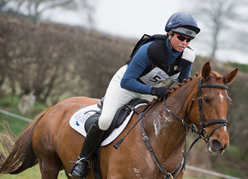 Jeanette Brakewell riding Forever Red
